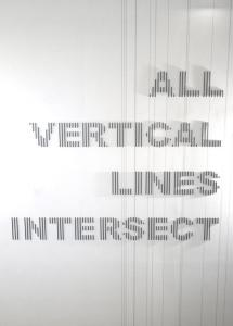 All Vertical Lines Intersect, David Rickard, 2013