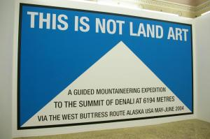 This is not land art, 2004, wall painting