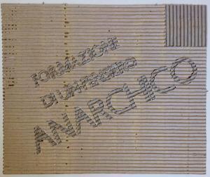 Formazione di un pensiero anarchico, 1995. Cartone, cm 45,5 x 35