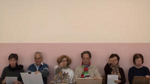 I Disegnatori, 2013, video, loop, colors, mute, installation view