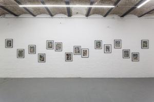Serie La Tempesta Perfetta, Nanni Balestrini, 2015, installation view
