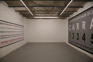 Hamish Fulton, wall painting, Sala superiore, installation view