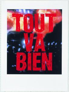 Sentences, Tout va bien, 2014 serigrafia, rosso