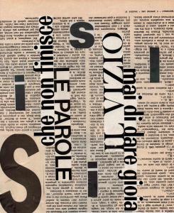 Le parole, 1962, 28,5x21,5, Rid