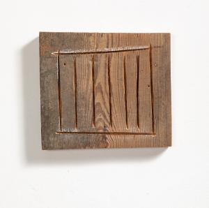 Richard Nonas Untitled, 1985, legno, 28x25x5 cm