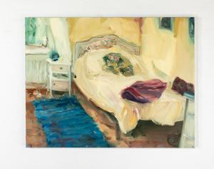 Imelda's bedroom olio su tela 85x110 cm 2018