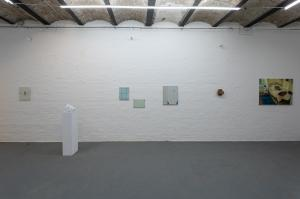 Installation View Sala Superiore: Silvano Rubino, Saverio Rampin, Richard Nonas, Sophie Westerlind