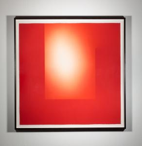 Brian Eno, Helica Cadmium Red (Tails), 2018