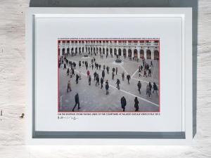 Repetitive walk, Palazzo Ducale, Venice, 2015, print