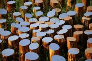 Ogni cosa è al suo posto, Ivan Barlafante, 2017, legno e acciaio, dettaglio
