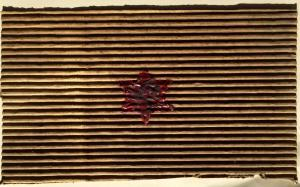 Esodo, 1992. Cartone e cera lacca, cm 34x20