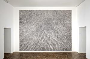 Il Progressivo. La Quarta Sinfonia di Brahms,2013, graffito su smalto, 370 x 440 cm, installation view