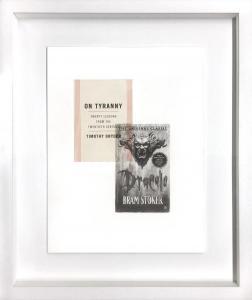Conversation with Bram Stoker III - 55 x 45 cm -matita e libro su carta su tavola -2018