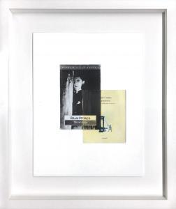 Conversation with Bram Stoker V - 55 x 45 cm -matita e libro su carta su tavola -2018