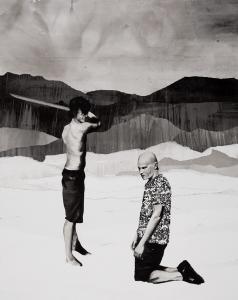 San Paolo - collage su tela foderata con carta-150 x 120 cm- 2011