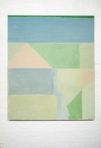 Saverio Rampin, Senza Titolo, 1975. Olio su tela. 200 x 164 cm