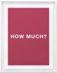 Antoni Muntadas, Cuatro Preguntas, Cuatro Colores: How Much?