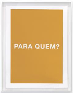 Antoni Muntadas, Cuatro Preguntas, Cuatro Colores: Para Quem?