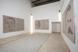 Seconda sala, Ritratti. Installation view