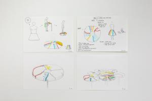 Untitled, 4 disegni su carta, 21x29 cm. cad.