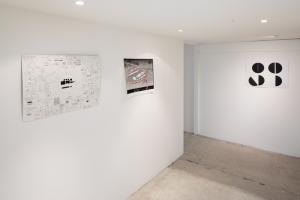 Untitled, disegni. Installation view