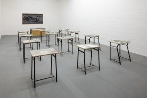 Andrea Mastrovito, La Diseduacazione al Reale, installation view